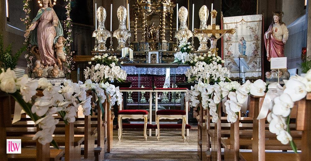 Burgundy Church Wedding
