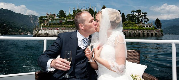 A Romantic Religious Wedding on Pescatori Island