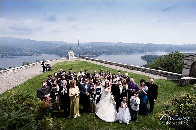 Wedding at Madonna del Sasso church, lake Orta