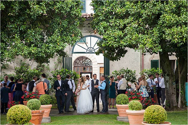 wedding reception at Palazzo Penotti Ubertini