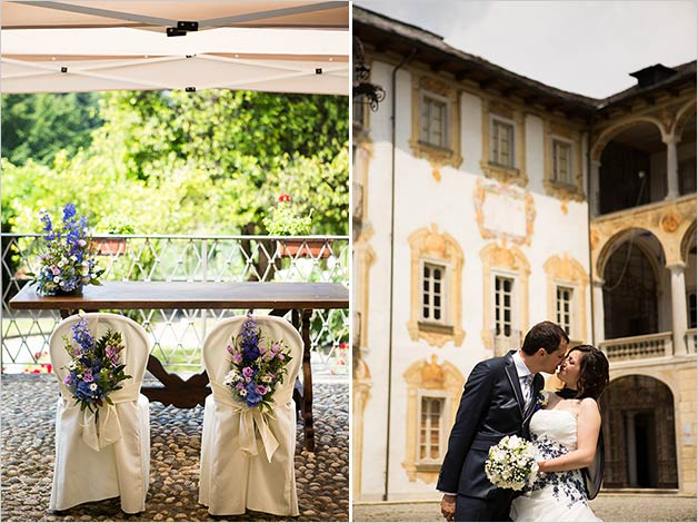 Civil ceremony at Palazzo Sperati in Miasino, lake Orta