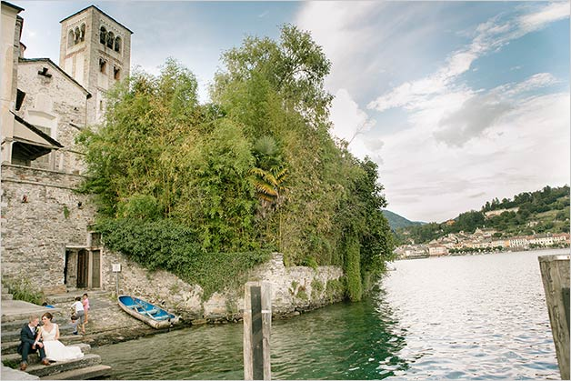 Wedding on Saint Giulio island