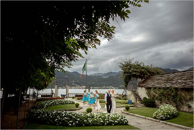 Civil ceremony at Villa Bossi, lake Orta