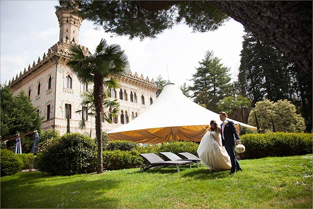 wedding reception at Villa Crespi