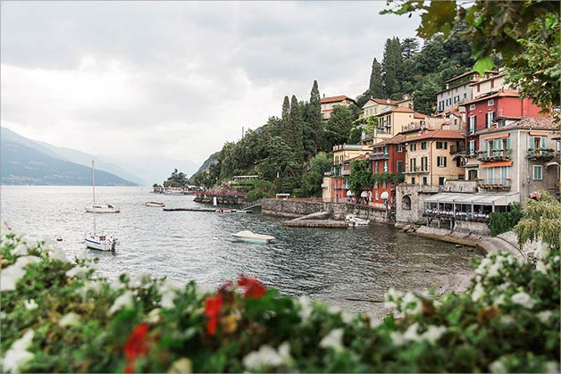 Civil ceremony in Ossuccio, Lake Como