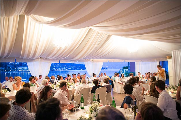 Wedding reception at Beach Club in Lenno