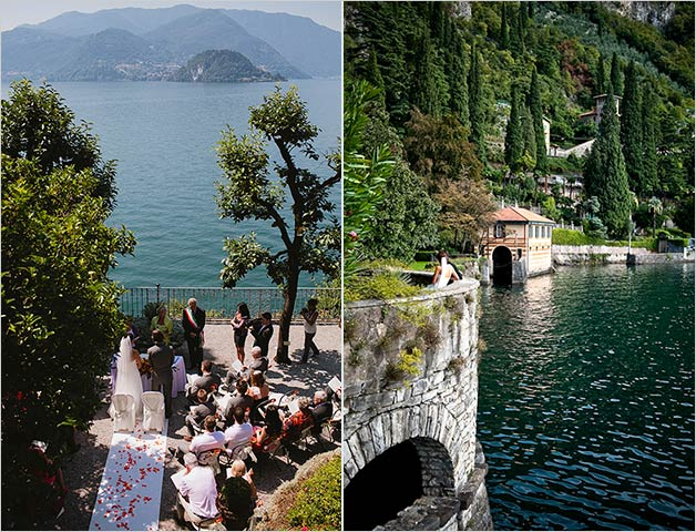 Civil ceremony at Villa Cipressi in Varenna