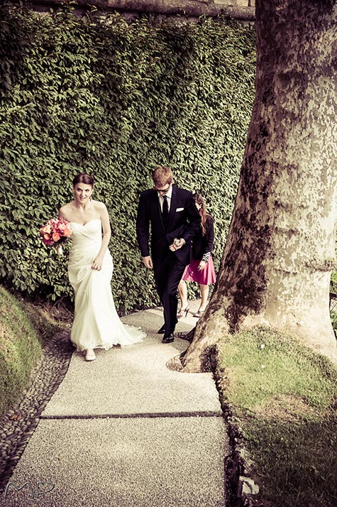 wedding ceremony at Villa del Balbianello
