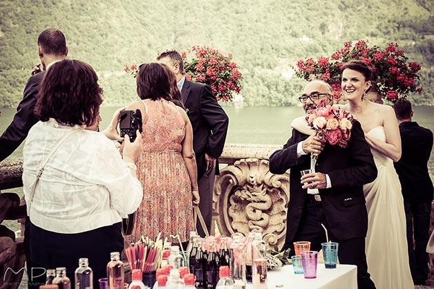 WEDDING COCKTAIL IN THE GARDENS OF VILLA DEL BALBIANELLO