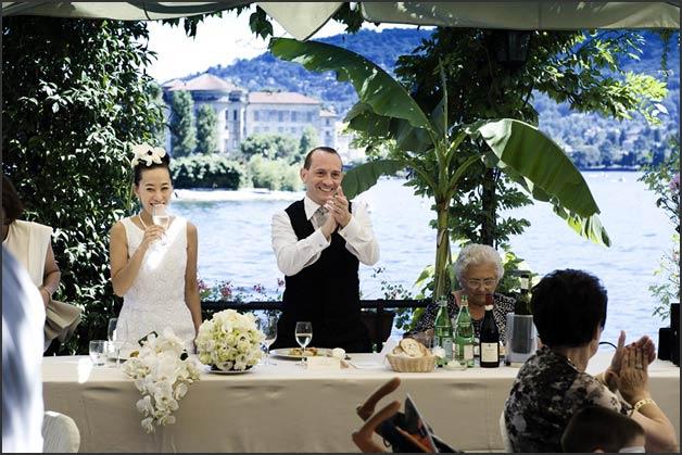 A Japanese Wedding on Lake Maggiore Italy : 17wedding reception at Verbano restaurant on Pescatori Island from www.italianlakeswedding.com size 628 x 419 jpeg 67kB