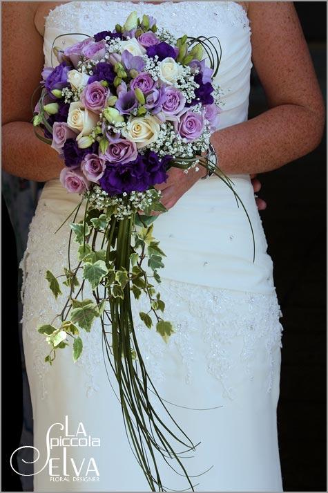 Purple Wedding Flowers In Italy