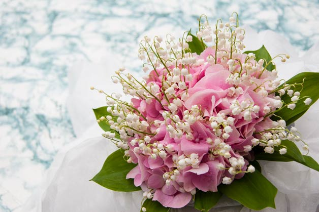 lily of the valley bridal bouquet by La Piccola Selva