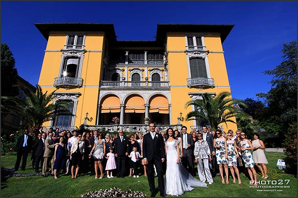 Fiona and Marco's wedding - May 2010 Group picture in front of beautiful Villa Rusconi neo classical building. Photo by Photo27