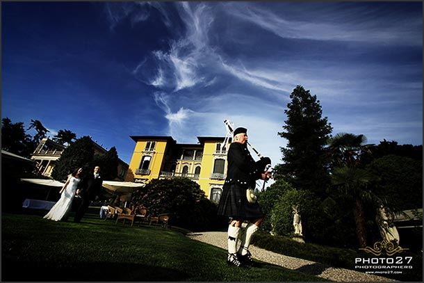 Fiona and Marco's wedding - May 2010 One of my favorite picture. Bag piper lead bride and groom to the reception...it is Fiona's dad our Scottish lovely bride! Photo by Photo27