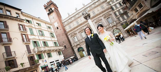 Black and Yellow themed wedding in Verona: a dream became true