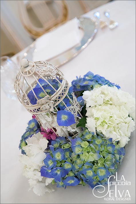 vintage bird cage centerpiece