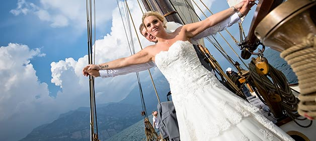 Gone with the wind, a magical cruise on Lake Garda
