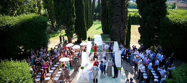 An Elegant Jewish Wedding on the hills over Lake Garda