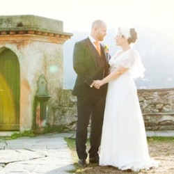 Traditional English details for an Italian Wedding on Lake Orta