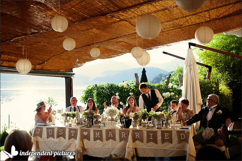 Ashleigh and Chris' wedding on Lake Orta