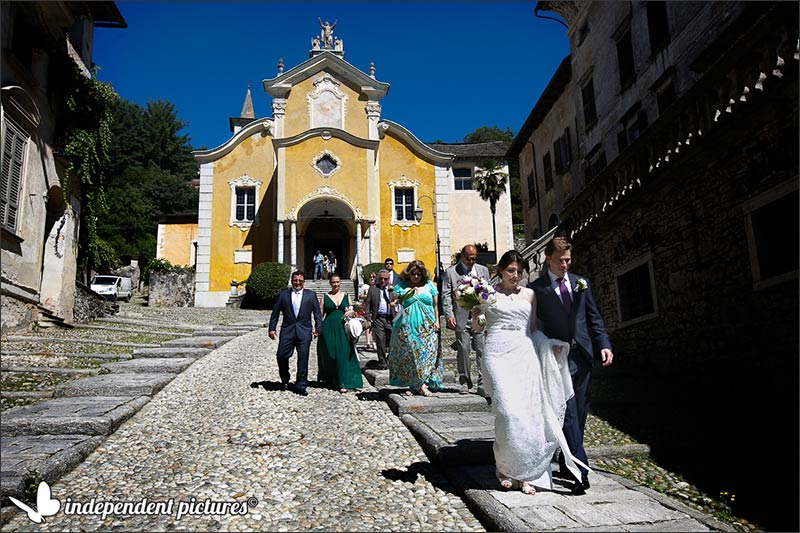 Paige and Darren's wedding on Lake Orta