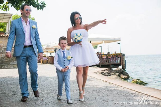 Brendan and Nyree's wedding in Torri del Benaco