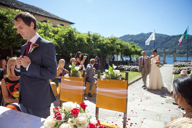 Deepa and Andrew's wedding on Lake Orta