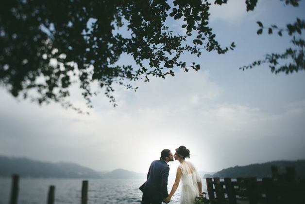 Rimma and Yasin's wedding on Lake Orta