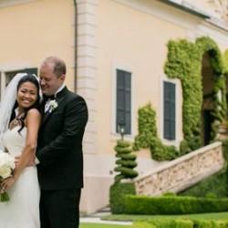 Cliff and Riyani's fairy tale wedding on Lake Como
