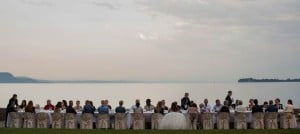 Romantic White Wedding on Lake Garda