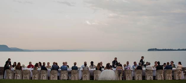 Romantic White Wedding on Lake Garda