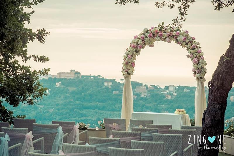 Ana and Jon's wedding on Lake Albano