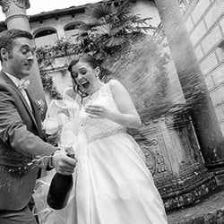 The ability to catch unique moments and emotions in the wedding photography