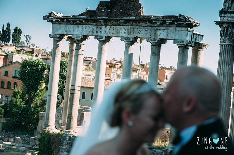 Lindsey and Mark's wedding in Rome