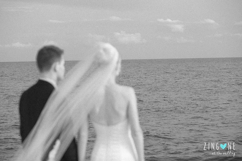 Anne and Nicolaj's wedding on Roman seaside
