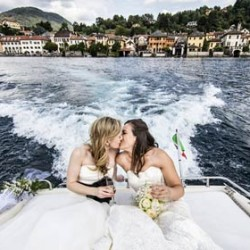 A Same-Sex wedding on Lake Orta