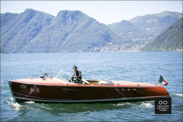 luxury boat wedding Lake Como