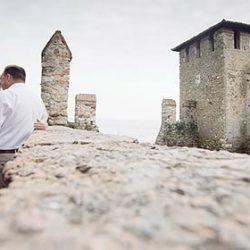 An intimate elope in Sirmione, Lake Garda