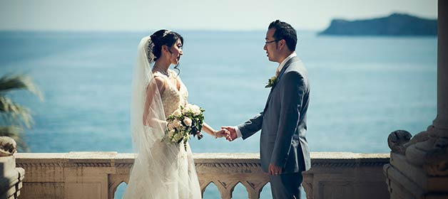 A wonderful romantic Chinese wedding on Lake Garda