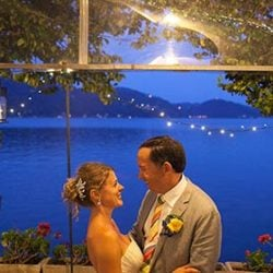 A Colourful Wedding on Lake Orta and its St. Julius Island