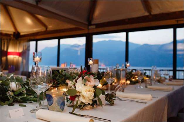 Gourmet restaurant wedding Malcesine Lake Garda