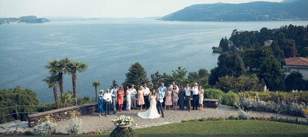 Sky is always blue on Lake Maggiore: a wedding with a View in Pallanza