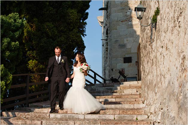 Scaliger Castle wedding ceremony in Malcesine