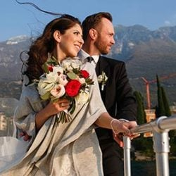 An early october wedding ceremony in Malcesine on Lake Garda