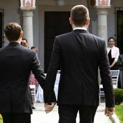 The very first same-sex ceremony at Villa Bossi on Lake Orta
