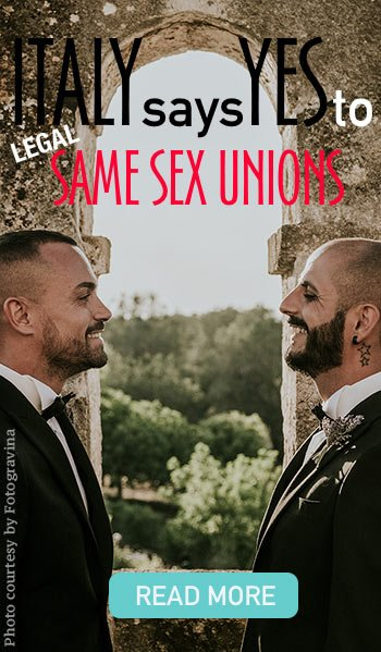 Gay weddings Italy