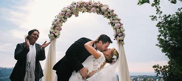 Ana & Jon and their romantic wedding on lake Albano