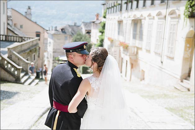 Military wedding Lake Orta Italy
