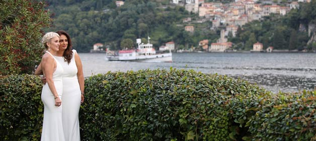 A romantic and touching same sex wedding on Lake Como
