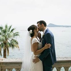 A brillant wedding at Isola del Garda